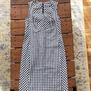 NWOT Talbots black/white gingham shift dress